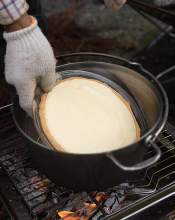 チーズケーキを焼く