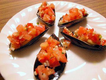 ムール貝のビネグレットソース