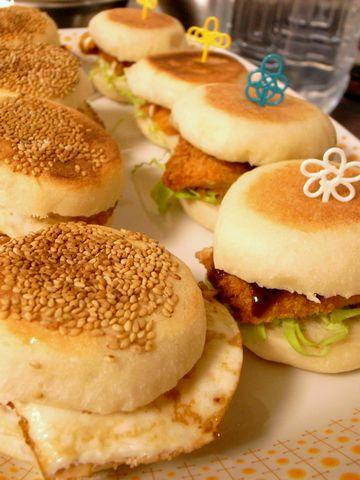 焼餅バーガー