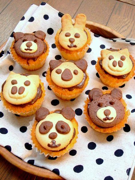 超カワイイ!動物カップケーキ