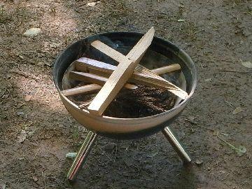 薪をセットする