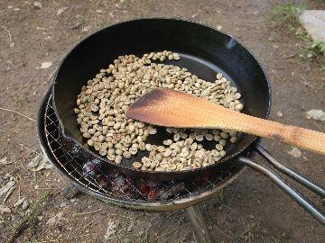 ブラジル豆を投入