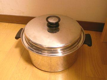 鍋で保温する