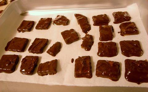 手作りガルボチョコレートでコーティング