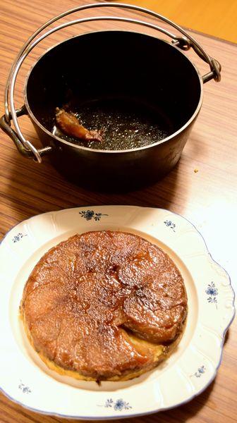 何とかダッチオーブンから剥がれ落ちたタルトタタン