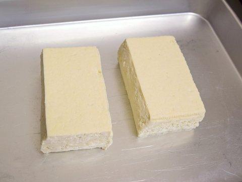 水を切った豆腐