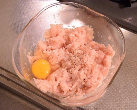 鶏団子を作る