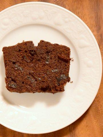 ワインかすジャムとチョコレートのパウンドケーキ