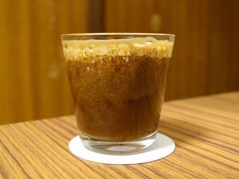 コーヒースタウトに生クリームを入れた