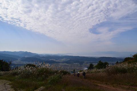 伊吹山2合目から琵琶湖を望む