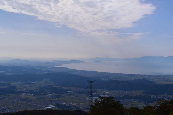 伊吹山5合目より琵琶湖を望む