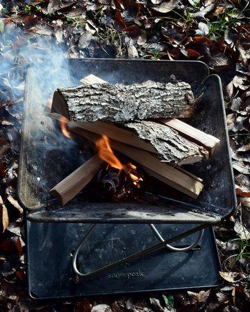 細い薪に火か点く