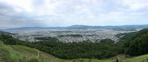 大文字山火床より京都を撮影