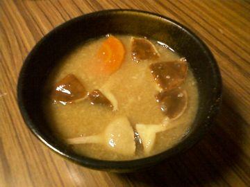 アミタケの味噌汁