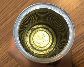 食べた後の缶