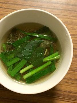 ドクダミ春雨スープ