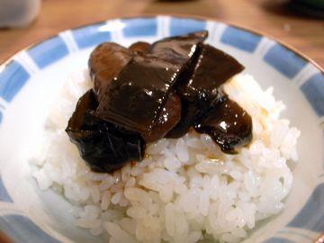 自家製舞昆を食べる