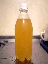 リンゴジュースで炭酸