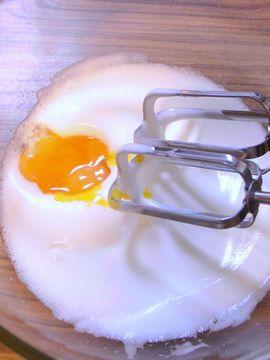卵黄を加える