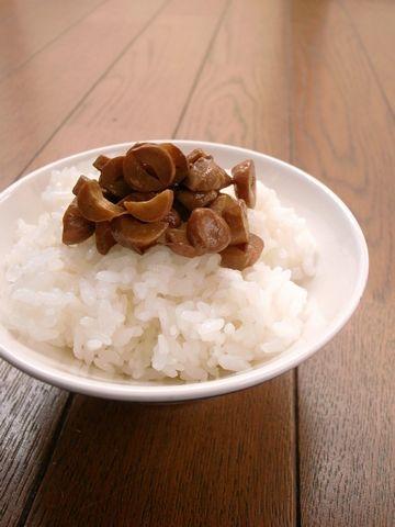 落花生納豆のご飯