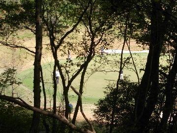 ゴルフ場の近く