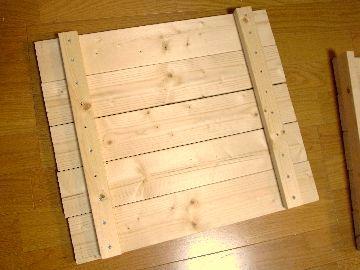 天板を組む