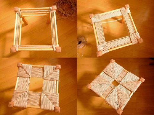 座面を編む