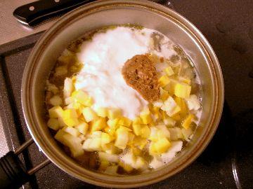 ズッキーニ、ヨーグルト、味噌を追加
