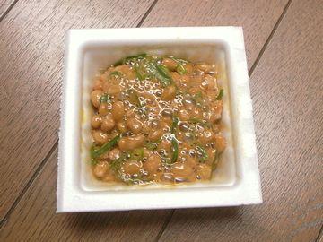 納豆に燻製醤油