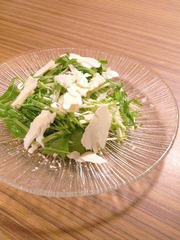 チーズを水菜のサラダ