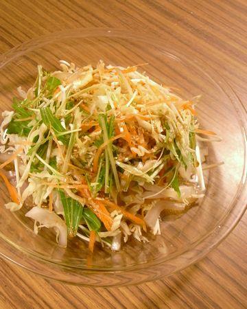 米酢ドレッシングを使ったサラダ