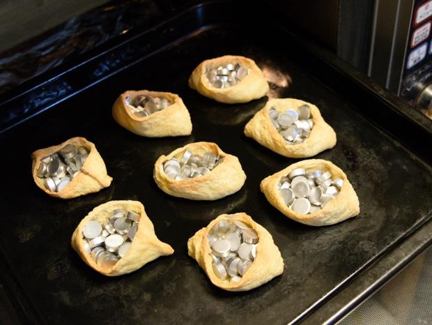 ストーンを詰めてオーブンで焼いたお揚げ