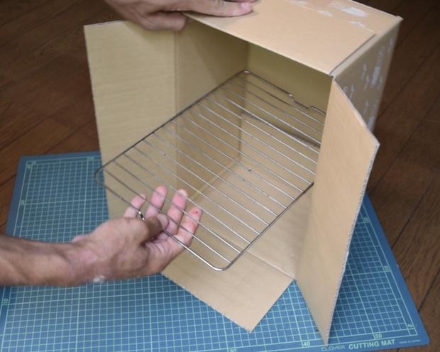 魚焼きグリルの焼き網と箱がピッタリ