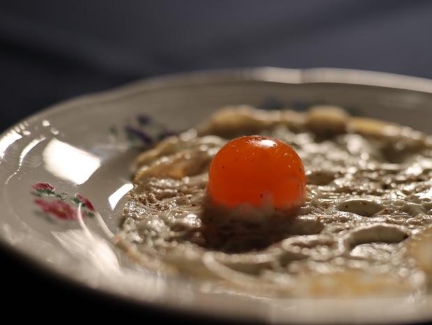 塩卵の目玉焼き、別名宇宙卵