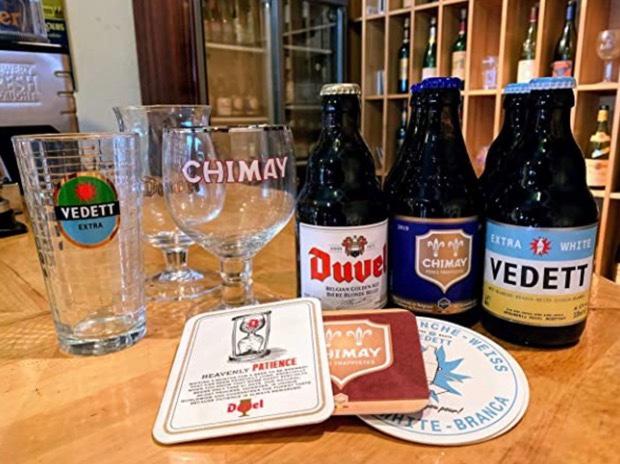 ベルギービールとグラス