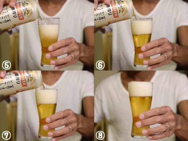 美味しいビールの注ぎ方後半