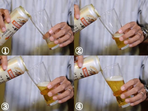 泡が発生しなかった時の美味しいビールの注ぎ方前半