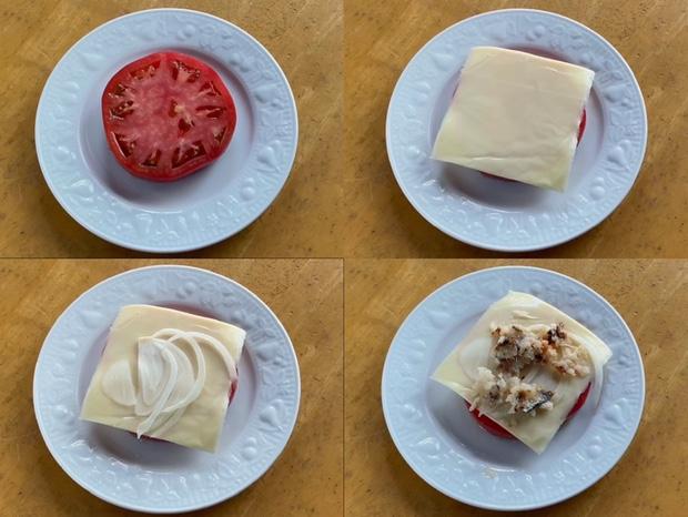 トマト&チーズ&イワシのなれずしを作る