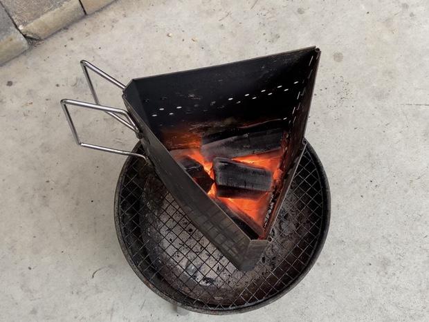 燃えてきた炭火