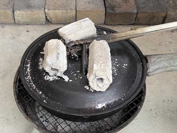 スキレットで20分タルトを焼いた所