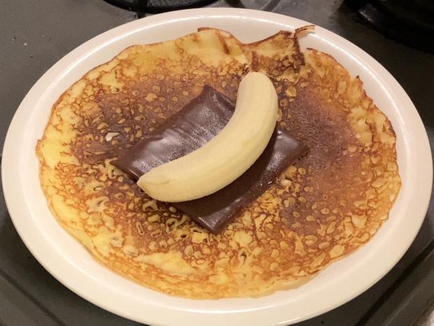 バナナを乗せる