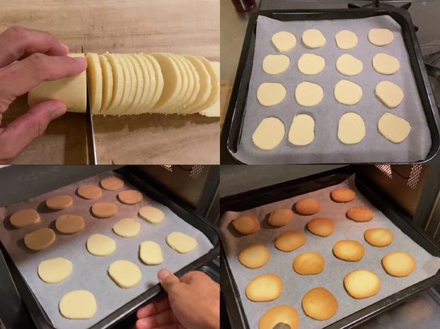 アイスボックスクッキーを焼く