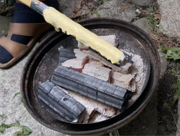 バームクーヘンを焼き始める