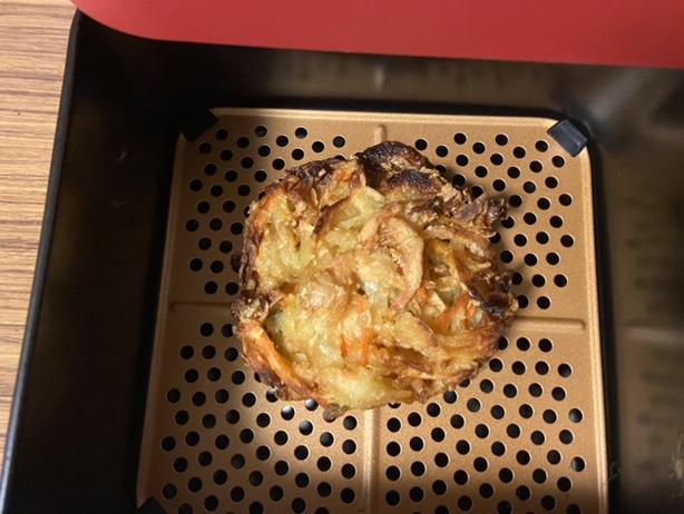 レコルトエアーオーブンで再加熱したかき揚げ
