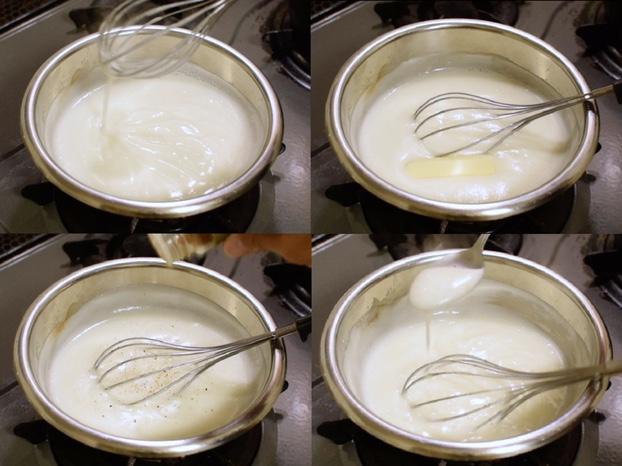ホエーでホワイトソースを作った
