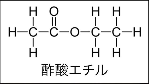酢酸エチルの構造式