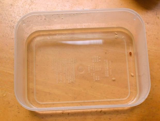 容器に残った酢