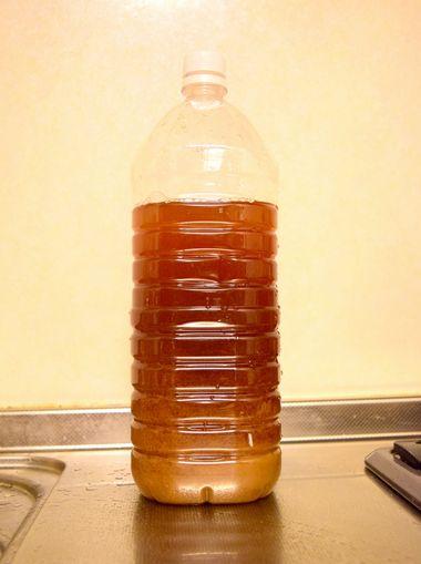 ペットボトルで1次発酵させる