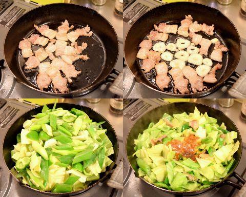 回鍋肉を作る