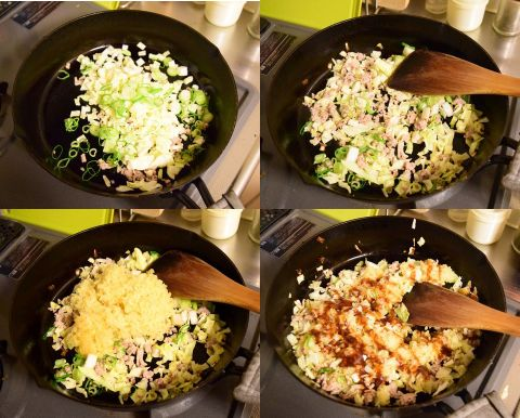 ソース焼き飯を作る
